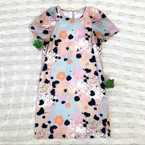 {See by Chloé} Multi Color Floral Mini Shift Dress